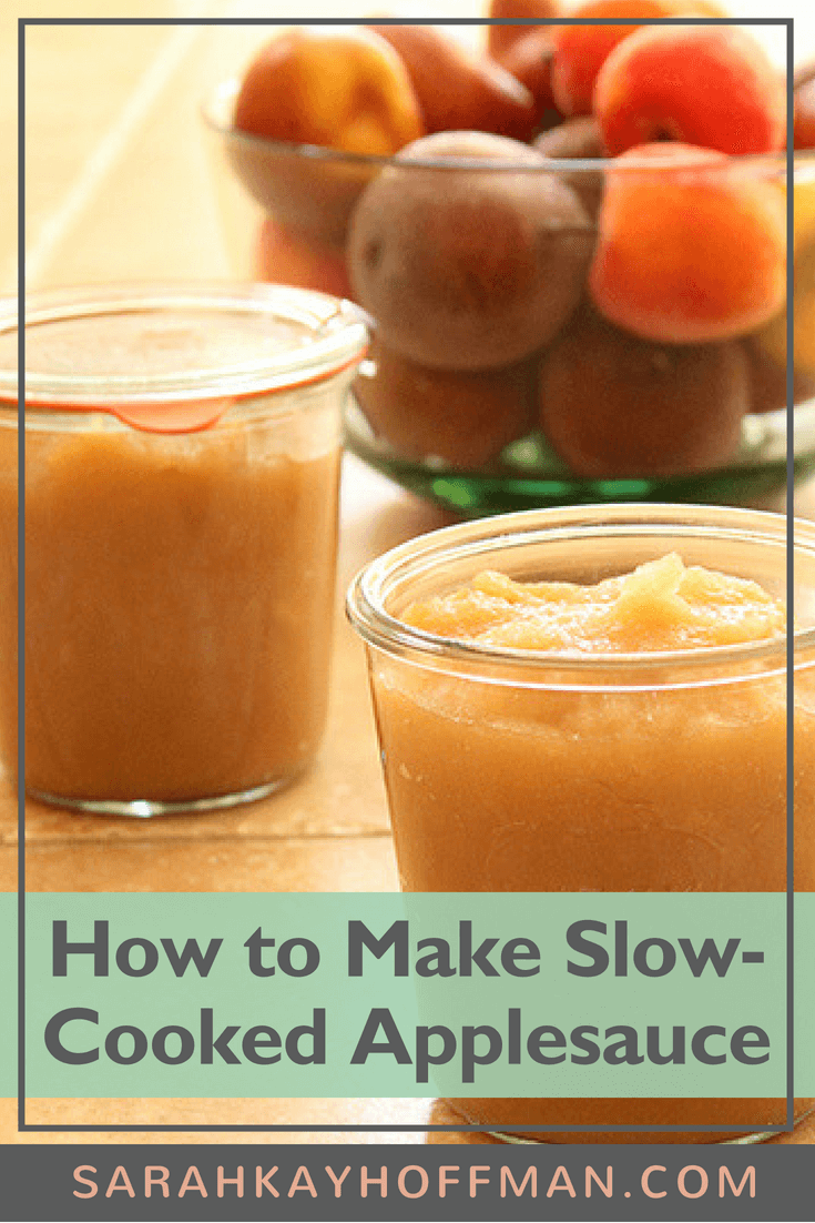 How to Make Slow Cooked Applesauce www.sarahkayhoffman.com #slowcooker #applesauce #dairyfree #glutenfree #fall #healthyliving