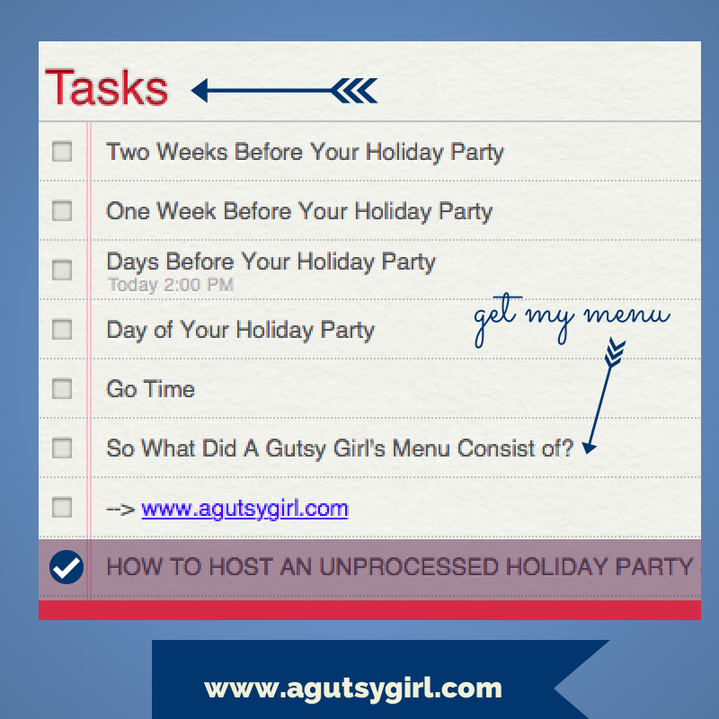 How to Host an Unprocessed Holiday Party + Brand New Recipe for Non-Dairy Tzatziki Sauce www.agutsygirl.com