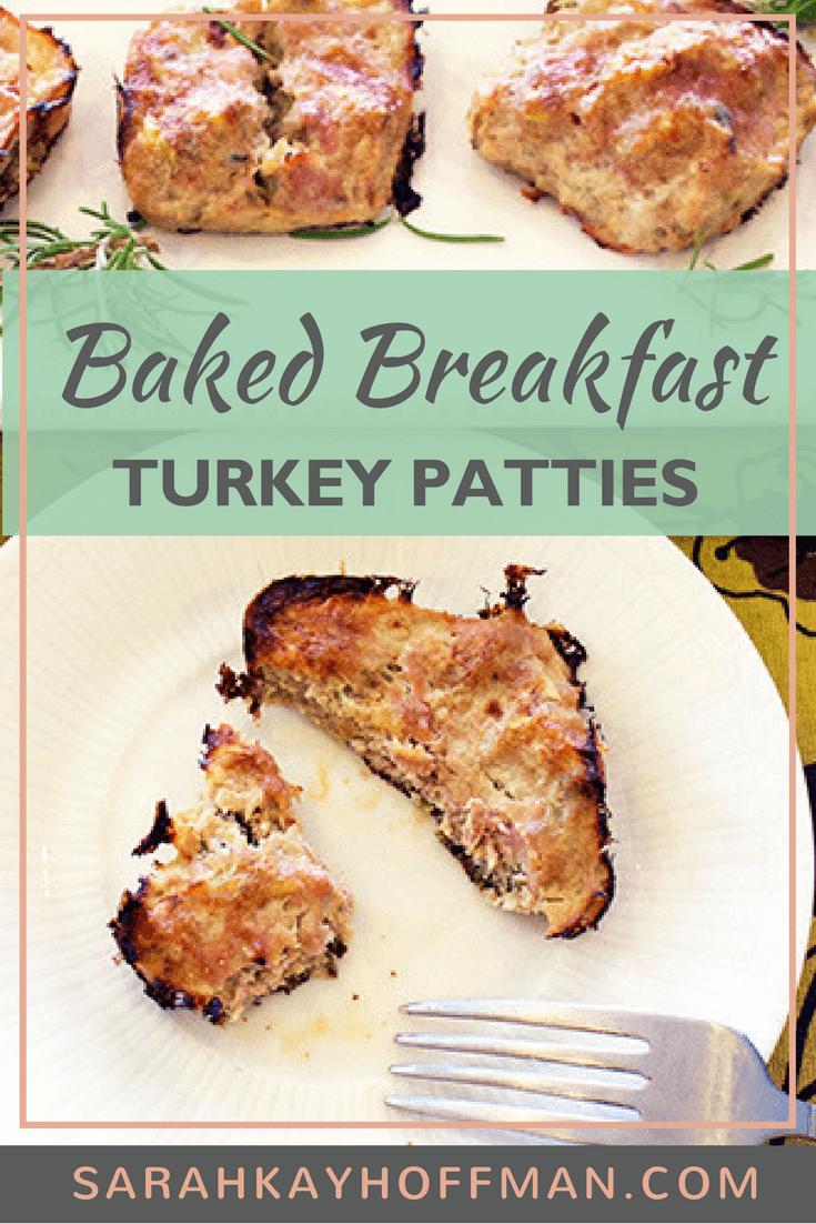 Baked Breakfast Turkey Patties www.sarahkayhoffman.com paleo ibs ibd glutenfree