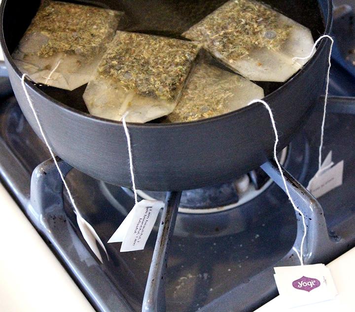 Brewing Green Tea Bags. How to Drink More Green Tea via www.agutsygirl.com