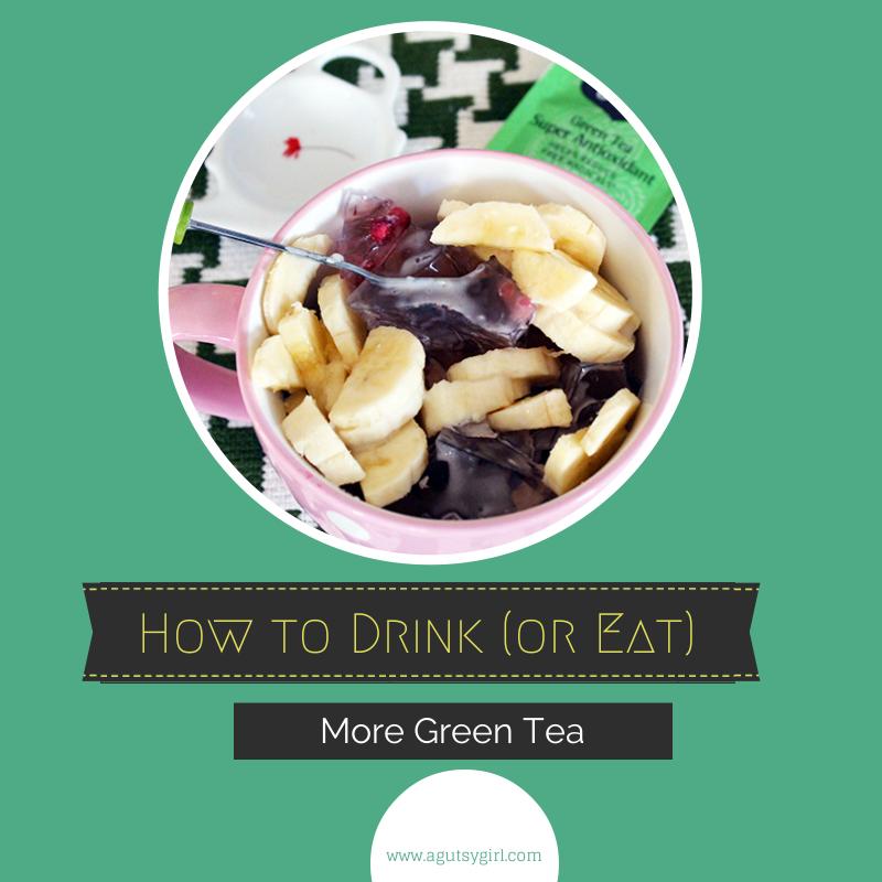 How to Drink More Green Tea via www.agutsygirl.com Top view Yogi Tea. Text
