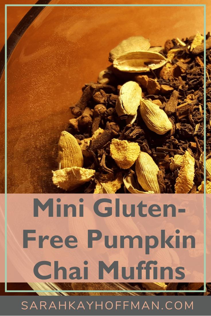 Mini Gluten Free Pumpkin Chai Muffins www.sarahkayhoffman.com #paleo #muffins #healthylifestyle #glutenfreerecipes #pumpkin