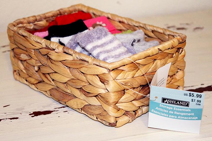 Michaels Stores baskets How to Baby Dresser Organization www.sarahkayhoffman.com