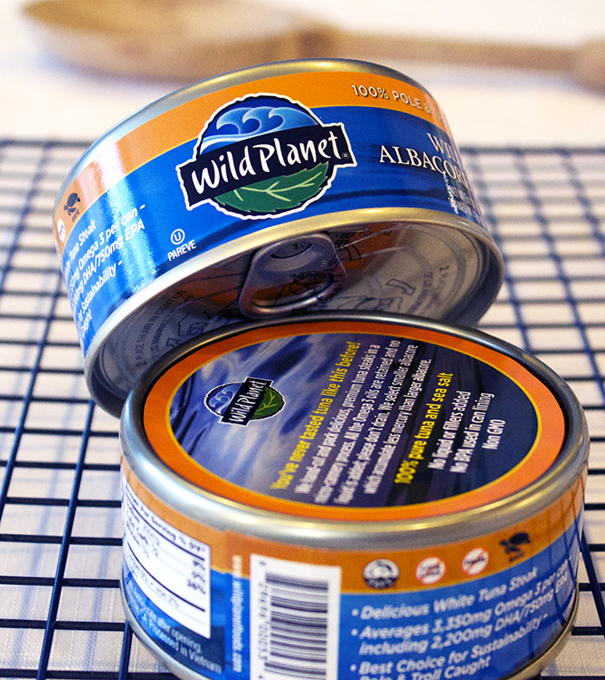 Wild Planet Wild Albacore Tuna for the Cheesy Tuna Casserole via www.agutsygirl.com