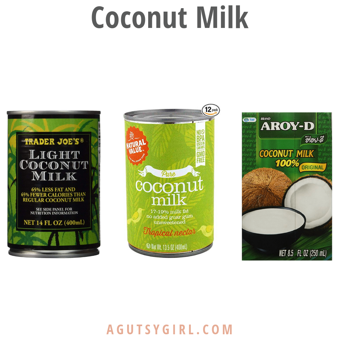 Coconut Milk 3 favorites with A Gutsy Girl agutsygirl.com #coconut #coconutmilk #dairyfree