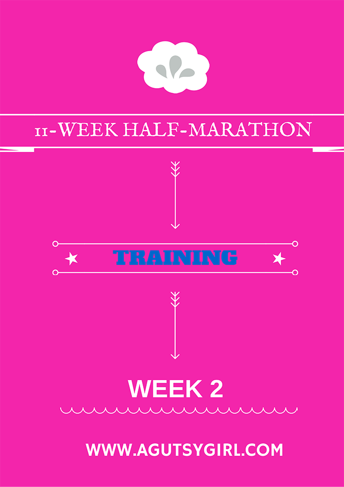 11-WEEK HALF-MARATHON Training week 2 program workout via www.agutsygirl.com