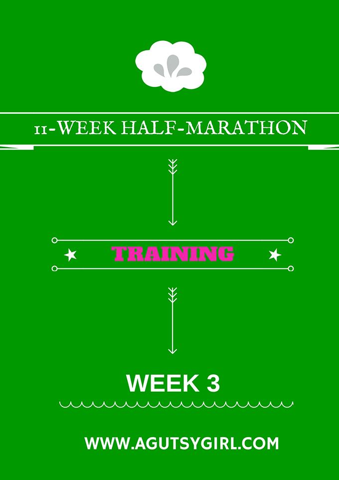 11-WEEK HALF-MARATHON Training week 3 program workout via www.agutsygirl.com