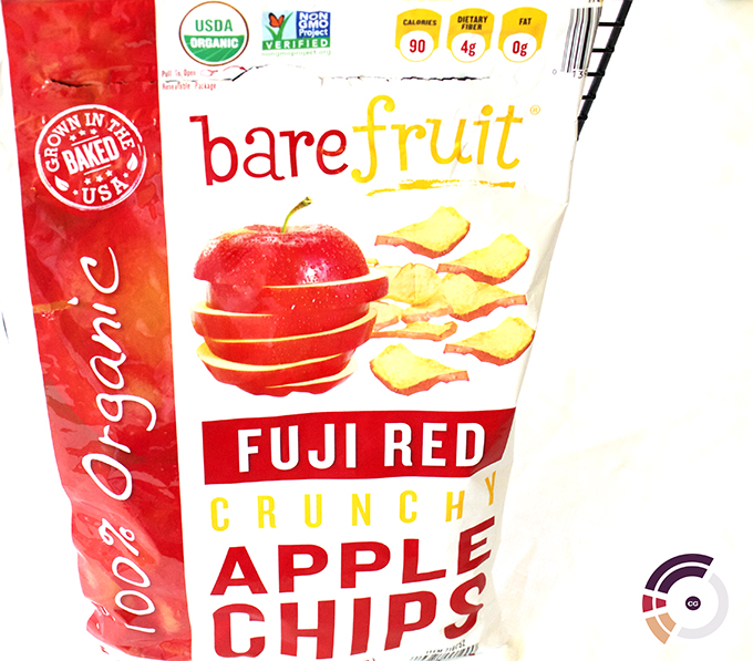 Certified Gutsy Bare Fruit Organic Fuji Red Apple Chips via www.agutsygirl.com #CG
