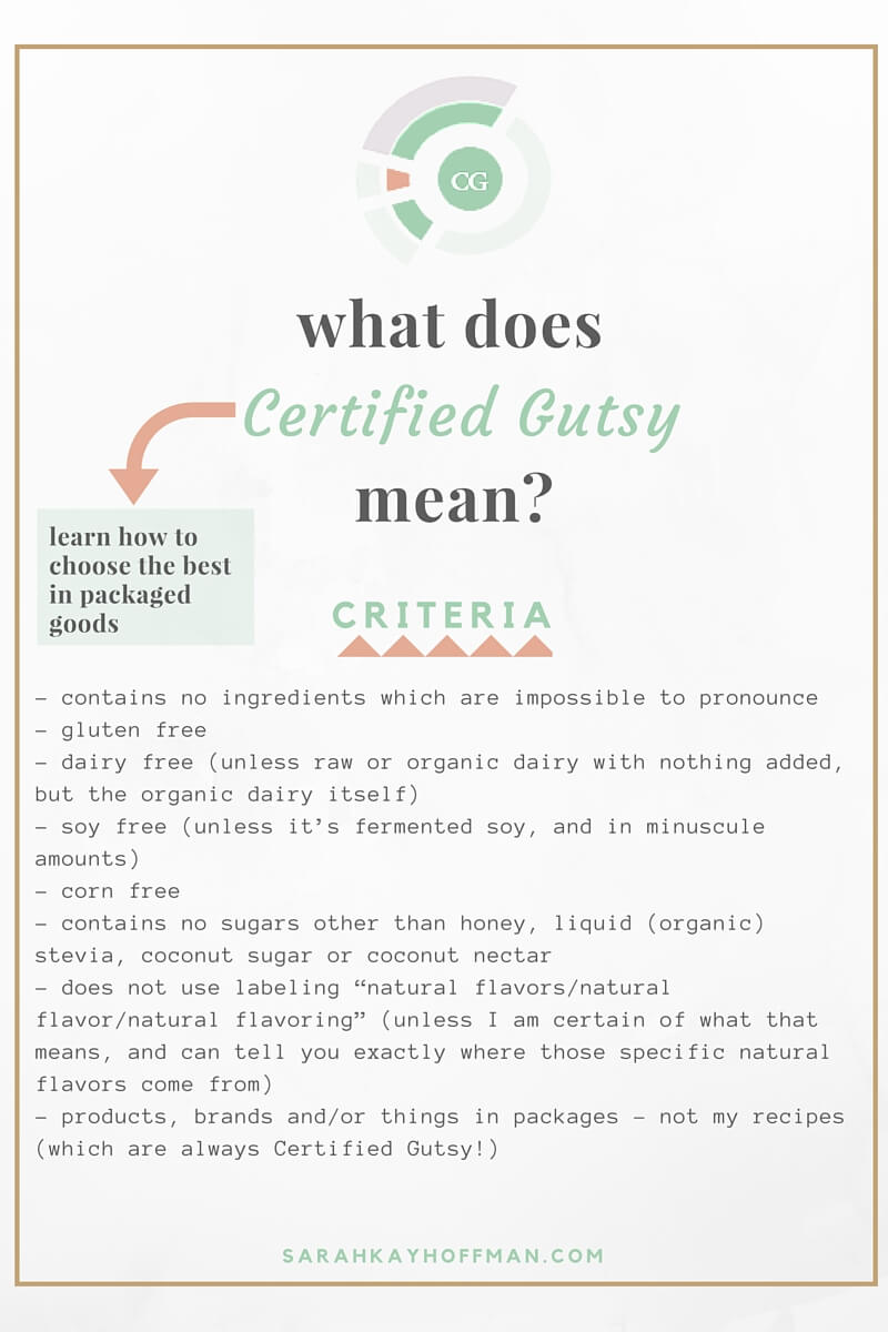Certified Gutsy Product What does Certified Gutsy mean? sarahkayhoffman.com