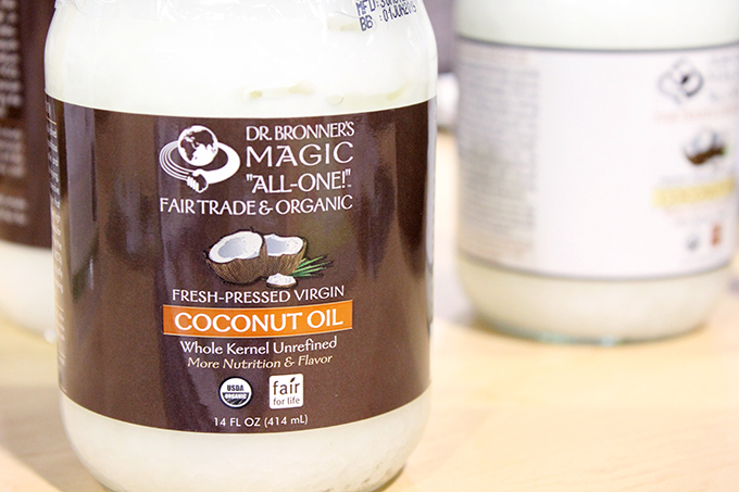 Dr. Bronner's Fair Trade and Organic Coconut Oil Review from Expo West 2014 via www.agutsygirl.com