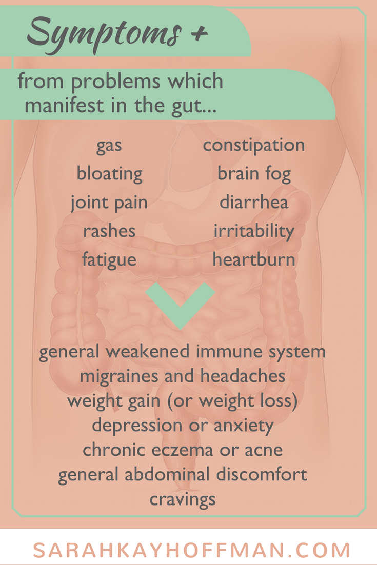 Symptoms, Problems, Masks and Solutions for Gut Healing www.sarahkayhoffman.com #guthealth #healthyliving #ibs #ibd