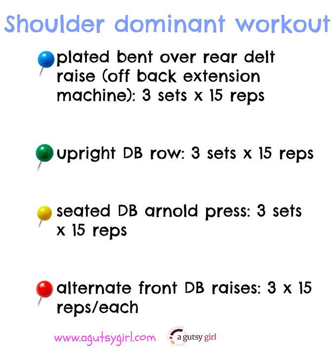 shoulder dominant workout for #HalfMarathon training via www.agutsygirl.com #FitFluential