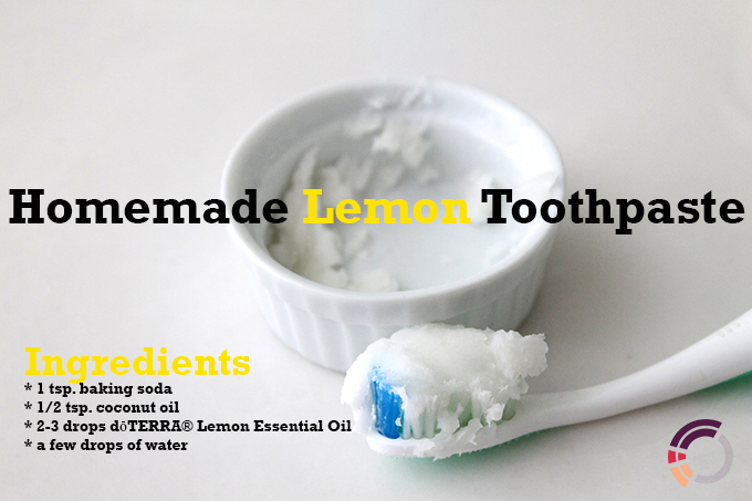 How to Homemade Lemon Toothpaste via www.agutsygirl.com