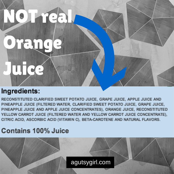 Orange Juice Ingredients Tropicana Tropicana Orange Juice Not