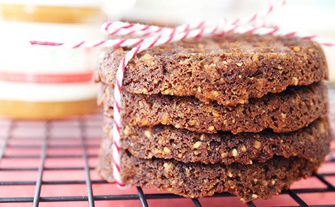 For A Gutsy Girl Honey Vanilla Bourbon Peanut Butter Cookies Flourless www.alovingspoon.com