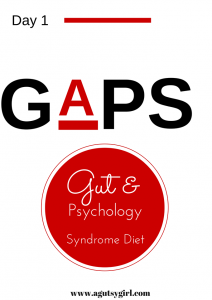 GAPS Diet Day 1 www.agutsygirl.com