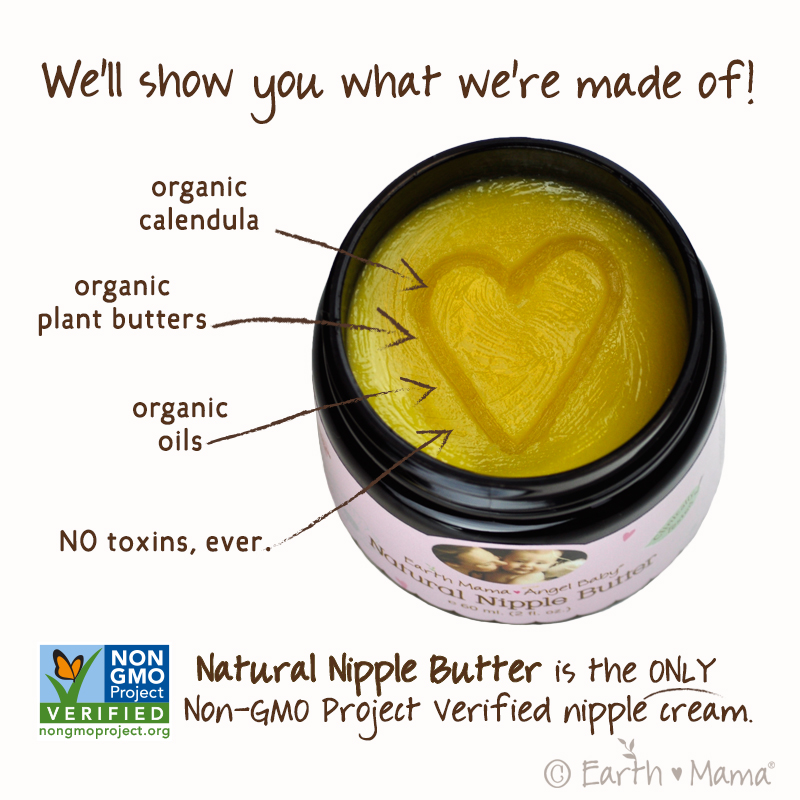 Earth Mama Baby Angel Natural Nipple Butter via www.agutsygirl.com