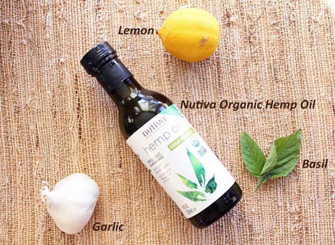 Ingredients Lemon-Garlic Basil Spaghetti Squash {featuring Nutiva Organic Hemp}