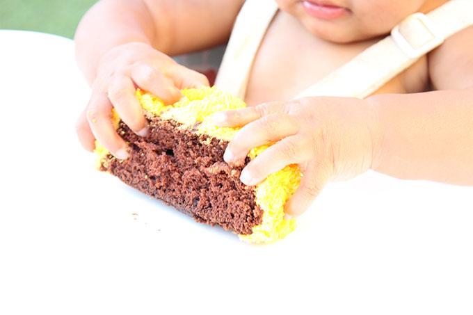 Samarah's 1st birthday with cake agutsygirl.com