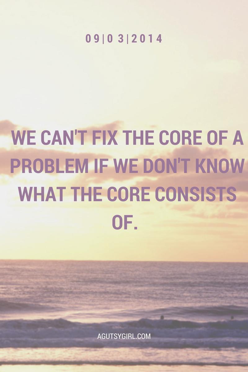 We can't fix problems. Colitis. www.agutsygirl.com