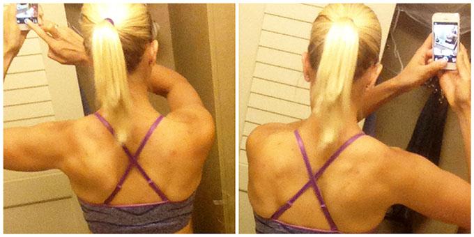 lifting heavier. upper back. nia shanks. via www.agutsygirl.com Target C9 racer back