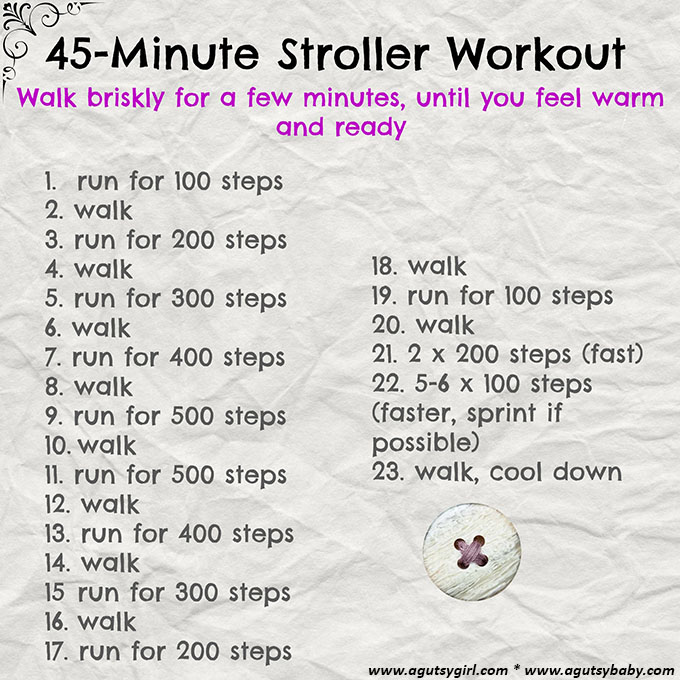45-Minute Stroller Workout www.agutsygirl.com