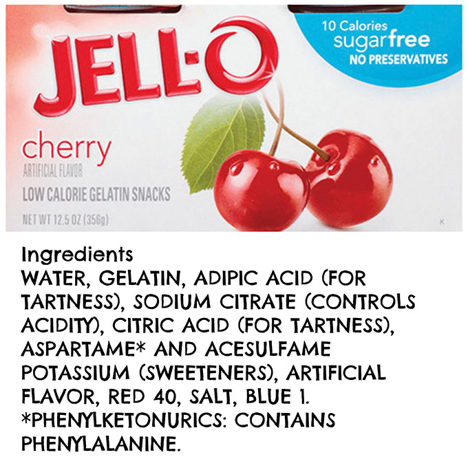 Red JELL-O Ingredients www.agutsygirl.com