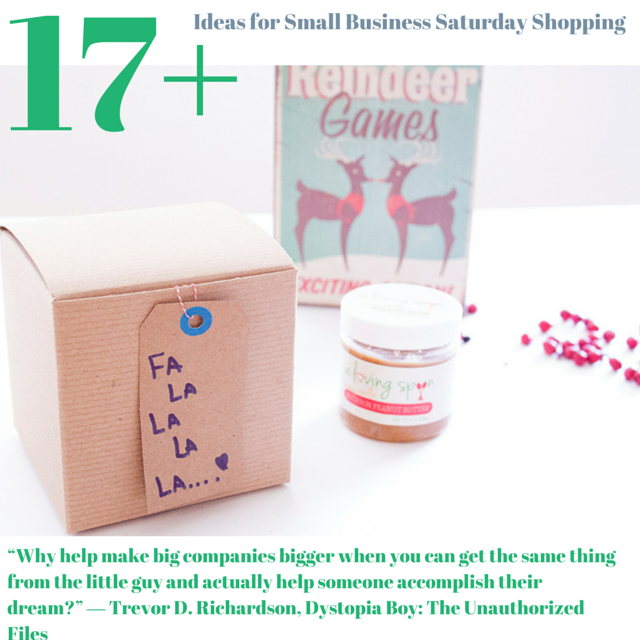 17+ Small Business Saturday Shopping Ideas www.sarahkayhoffman.com