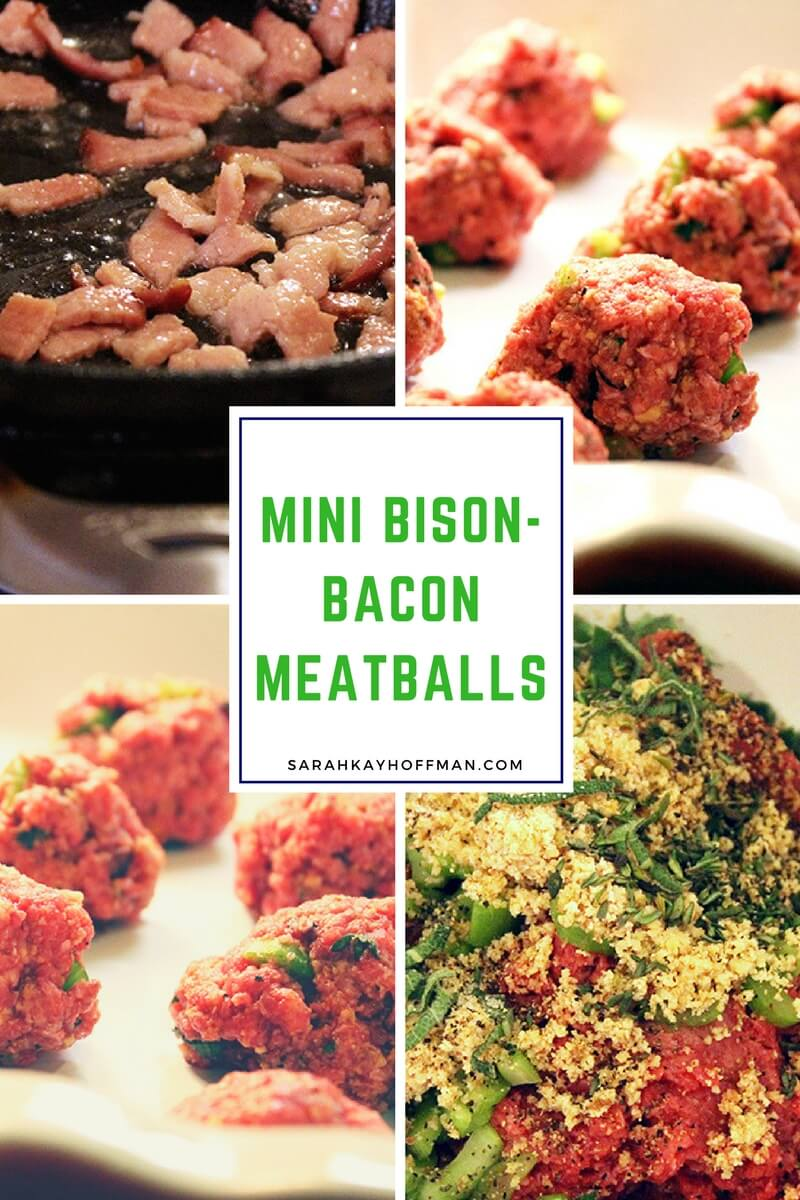 Mini Bison-Bacon Meatballs sarahkayhoffman.com Paleo Holiday Appetizer