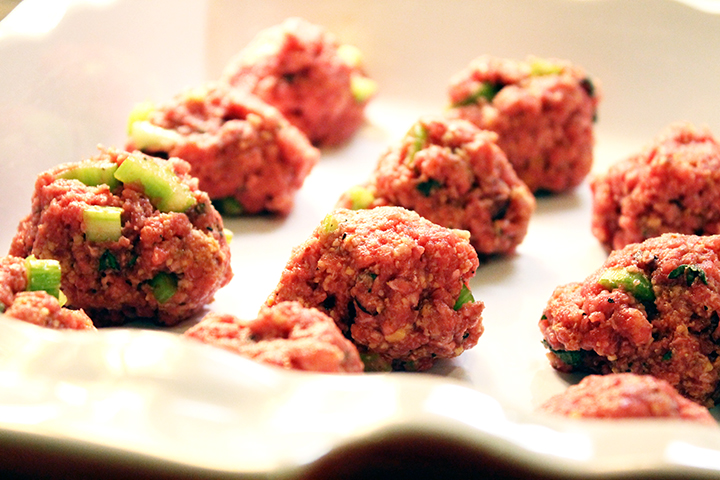 Pre-Cooked Meatballs Mini Bison-Bacon Meatballs gluten free dairy free unprocessed sarahkayhoffman.com recipe