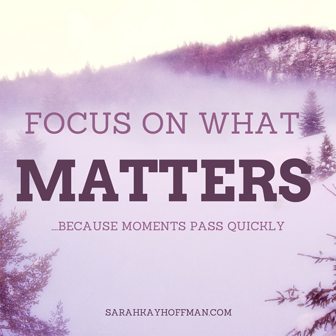 focus on what matters. sarahkayhoffman.com