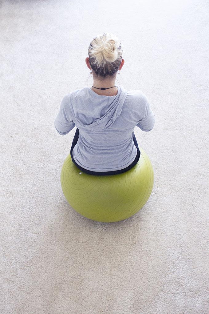 Winter Healing Workouts Sarah Kay Hoffman yoga ball sarahkayhoffman.com