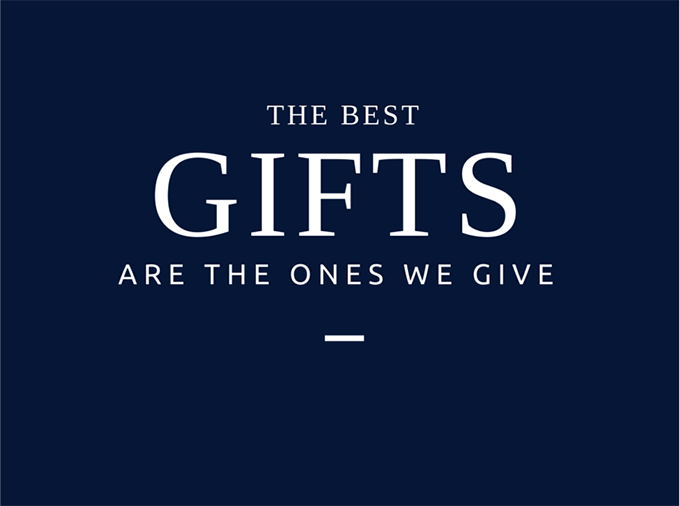 The Best Gifts are the Ones We Give. sarahkayhoffman.com