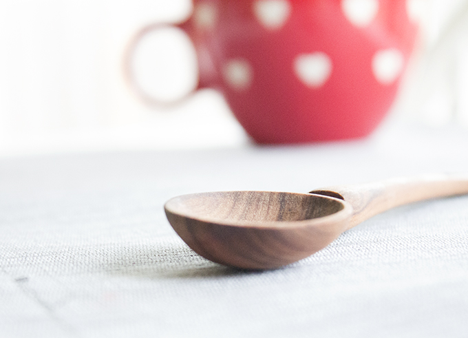 Nothing Beautiful About This Mess Wooden Spoon + Coffee Cup. sarahkayhoffman.com
