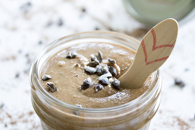 Purely Cacao Peanut Butter with mini heart spoon alovingspoon.com