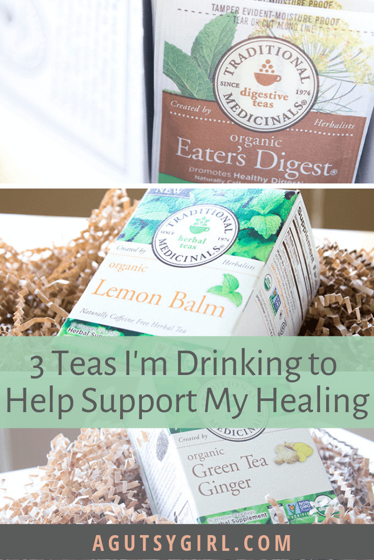 3 Teas I'm Drinking to Help Support My Healing agutsygirl.com #detox #guthealth #tea