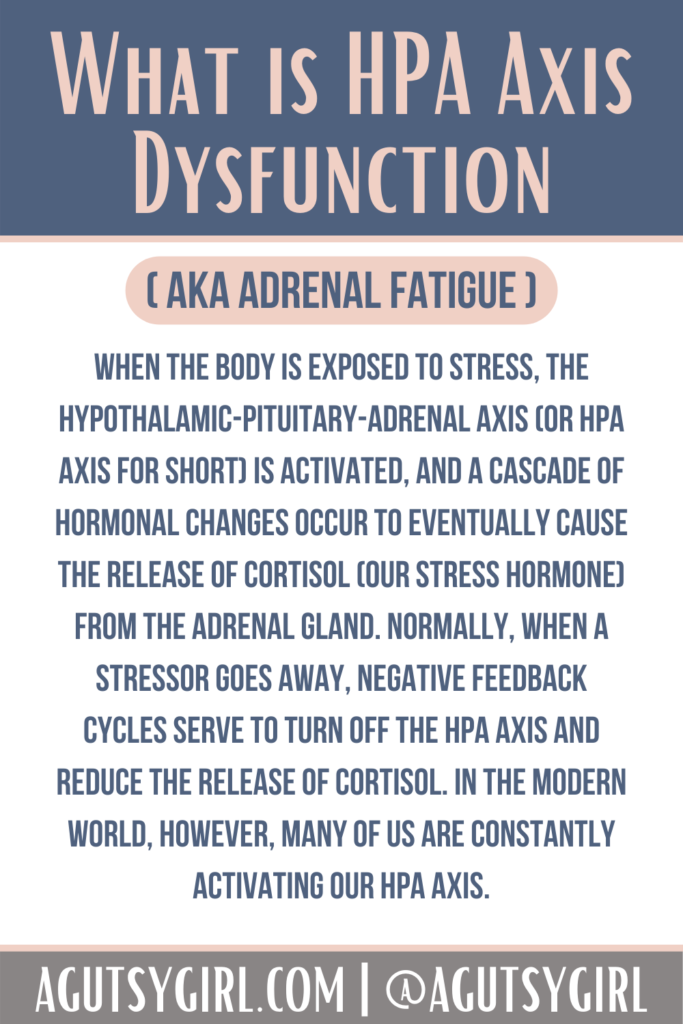 HPA Axis Dysfunction agutsygirl.com #hpa #adrenalfatigue