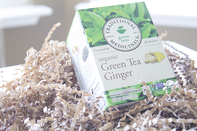 Traditional Medicinals Organic Green Tea Ginger sarahkayhoffman.com