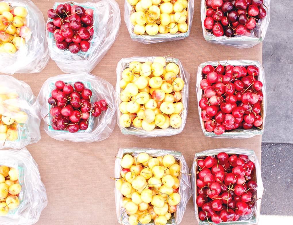 Farmers Market Cherries. New Lease on Life sarahkayhoffman.com