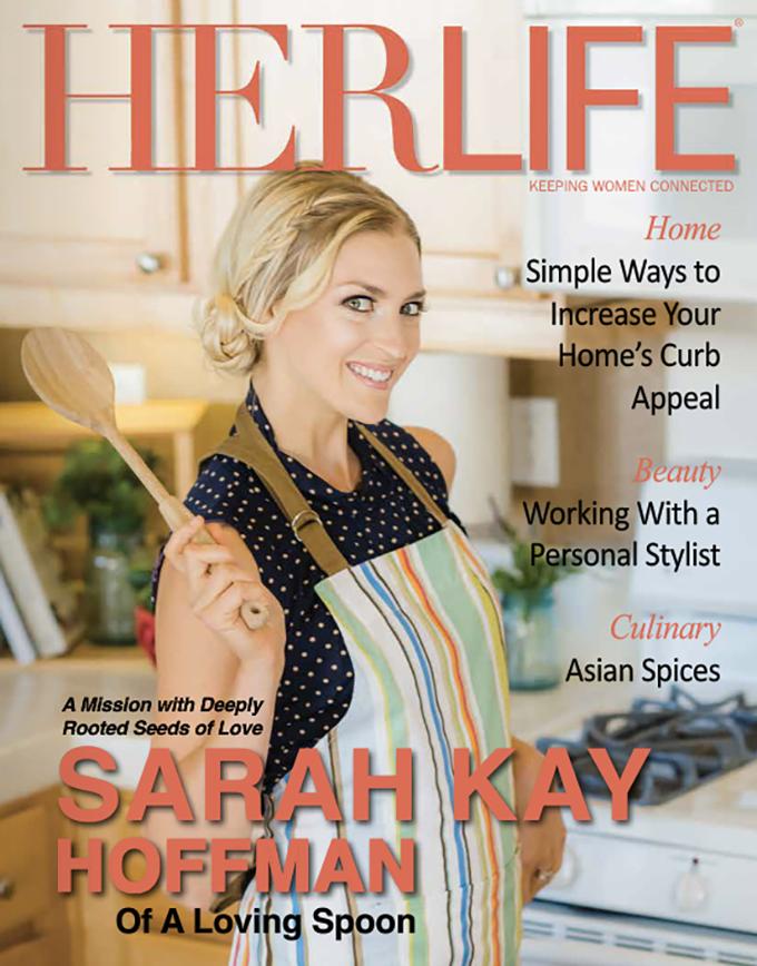Lucky Girl, My HERLIFE Magazine Cover Story sarahkayhoffman.com