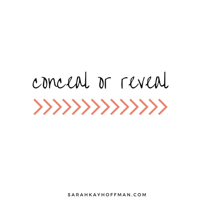 Conceal or Reveal sarahkayhoffman.com