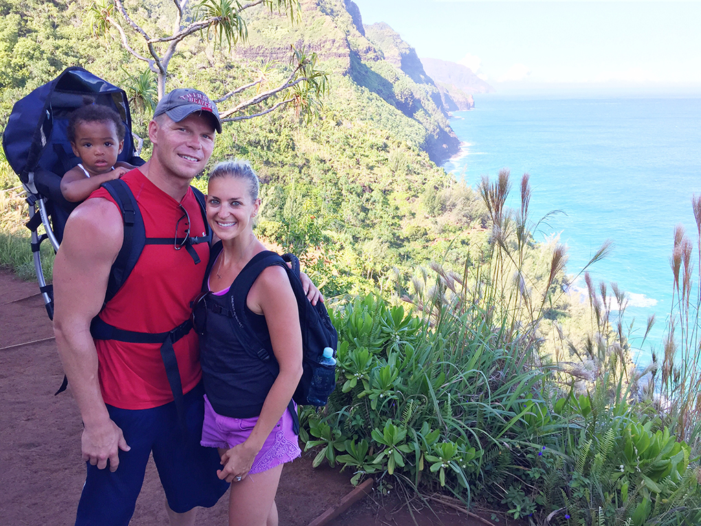 He Lets Me Fly Ryan, Samarah and I hiking. Hawaii vacation of firsts. sarahkayhoffman.com
