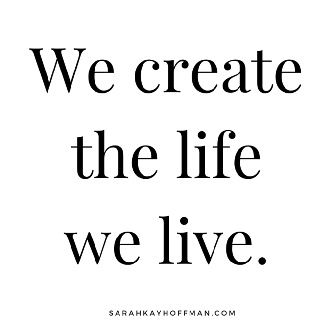 Sit Down, Let's Chat Over Broth sarahkayhoffman.com We Create the life we live