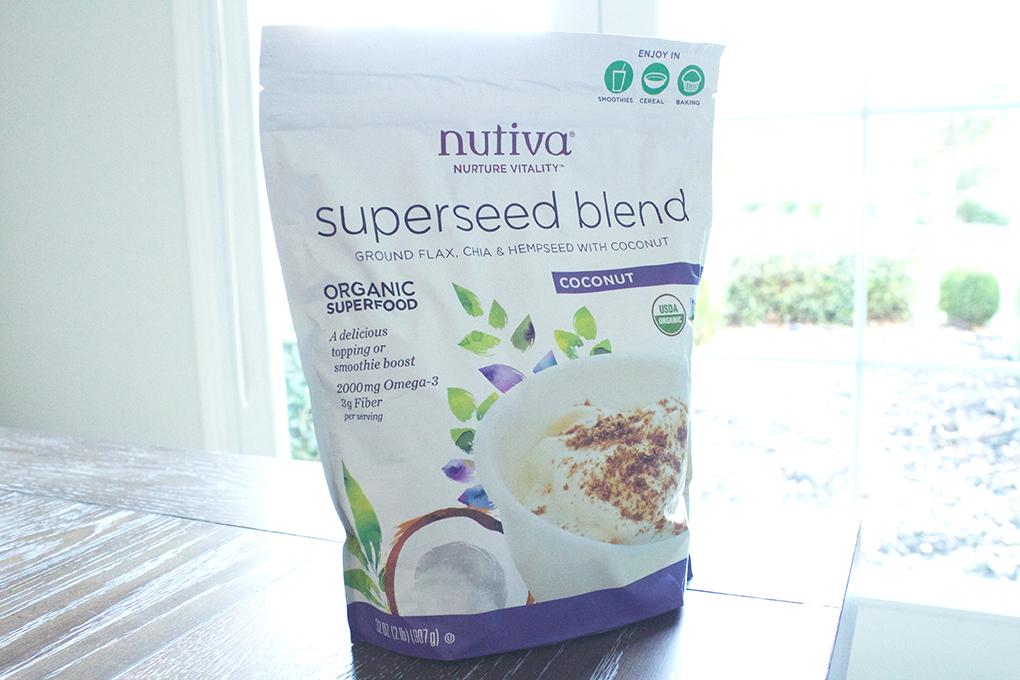 32g of Fiber in one Super Breakfast Bowl Superseed Nutiva Organic Blend sarahkayhoffman.com