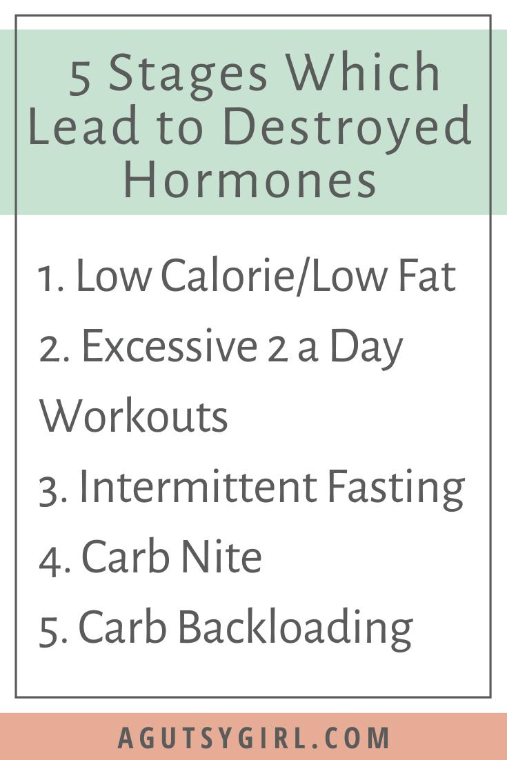 Destroyed Hormones 5 Stages agutsygirl.com #hormonalhealth #hormones #guthealth