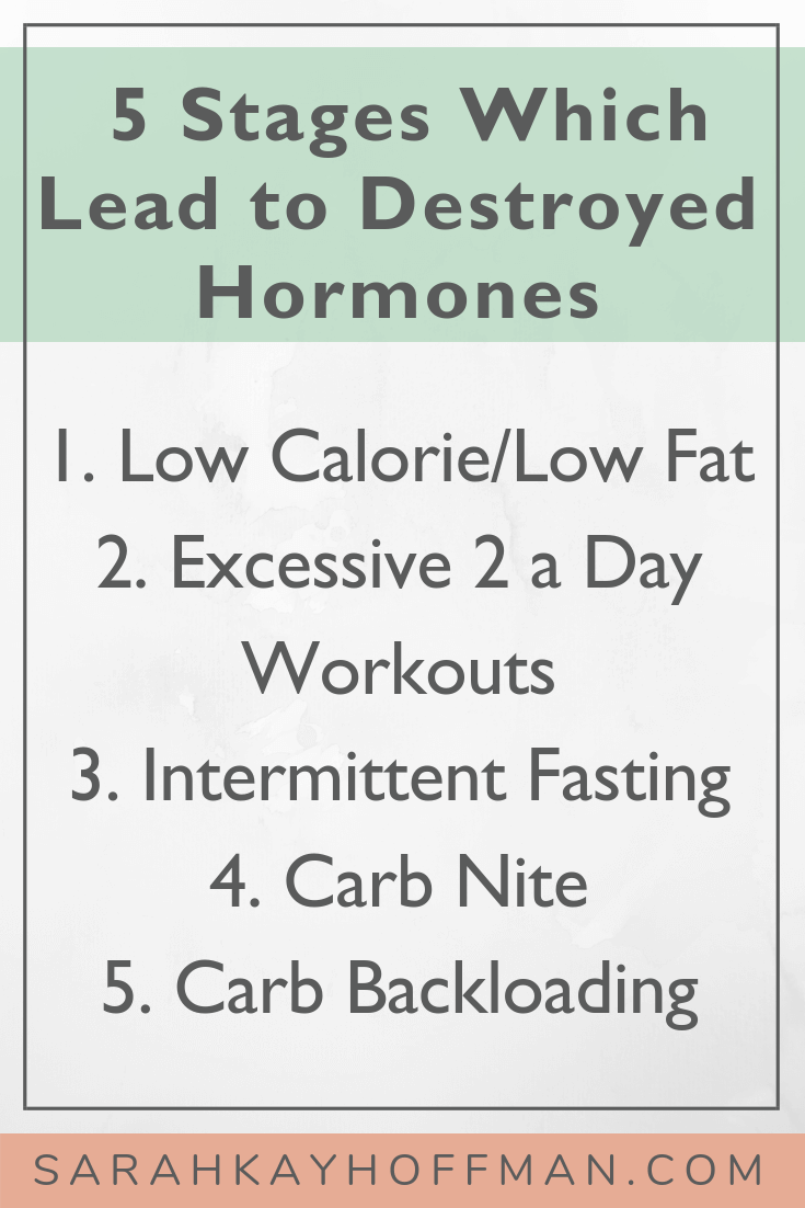 Destroyed Hormones Part II www.sarahkayhoffman.com #hormones #hormonehealth #healthyliving #lifestyleblogger 5 Stages