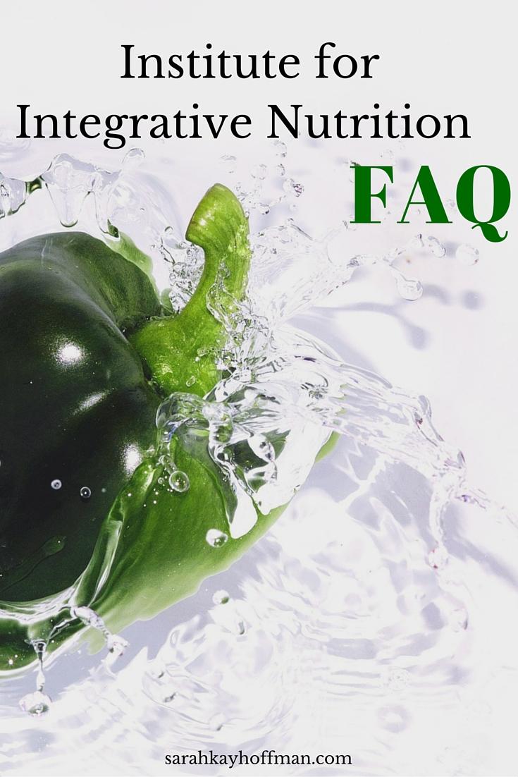 Institute for Integrative Nutrition FAQ sarahkayhoffman.com
