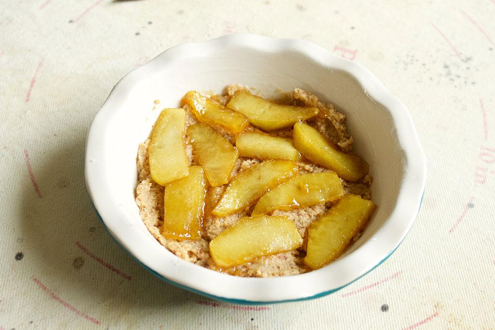 Mini Layered Apple Pie Pre-bake with apples paleo sarahkayhoffman.com