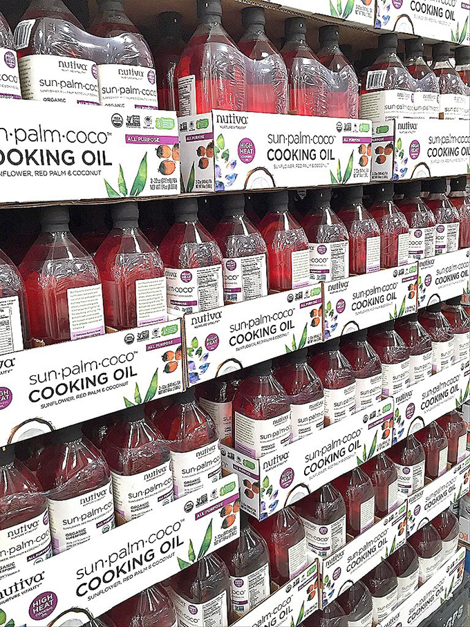 The Real Food Shopping Guide for Costco Nutiva Sun Palm Coco Cooking Oil sarahkayhoffman.com