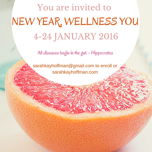 21-Day New Year, Wellness You Program You're Invited sarahkayhoffman.com